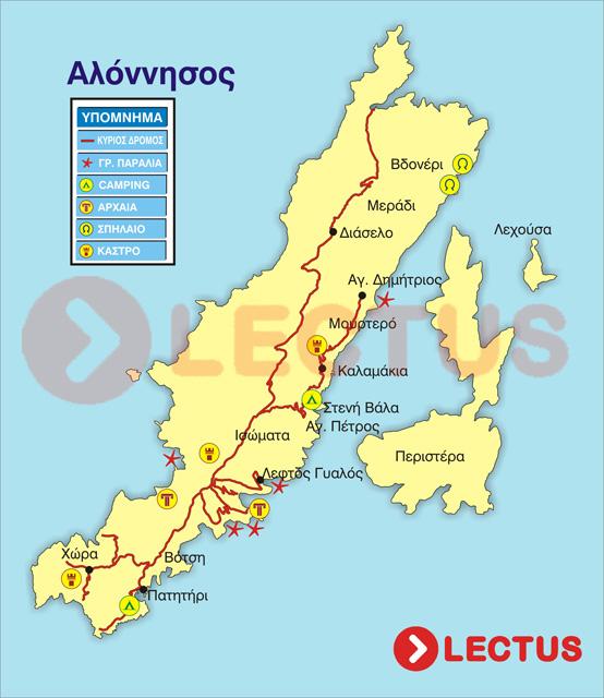 Χάρτης - Αλόννησος