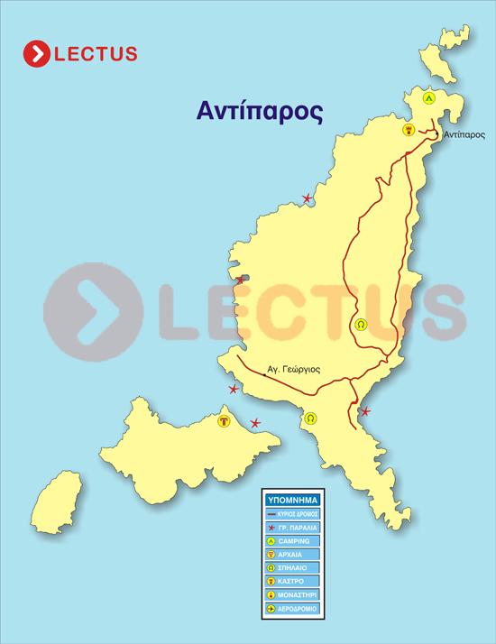 Χάρτης - Αντίπαρος