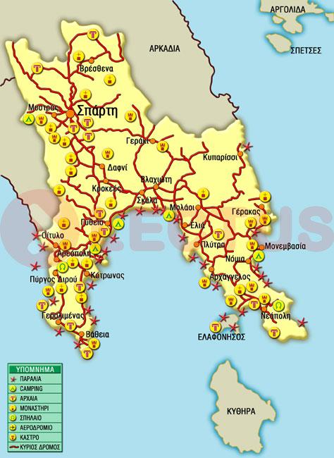 Χάρτης - Ελαφόνησος
