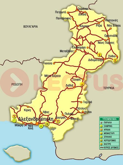 Χάρτης - Έβρος