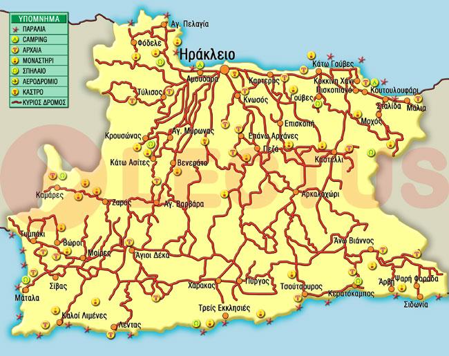 Χάρτης - Ηράκλειο