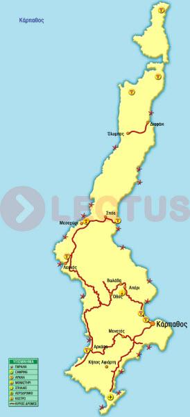Χάρτης - Κάρπαθος