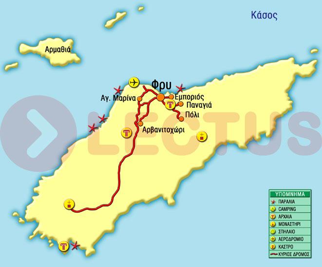 Χάρτης - Κάσος