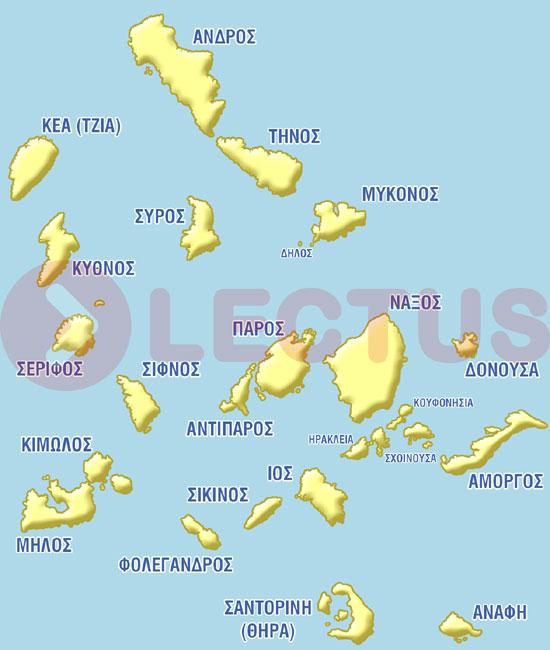 Χάρτης - Κυκλάδες