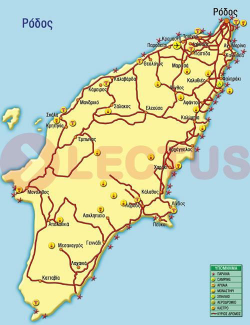 Χάρτης - Ρόδος