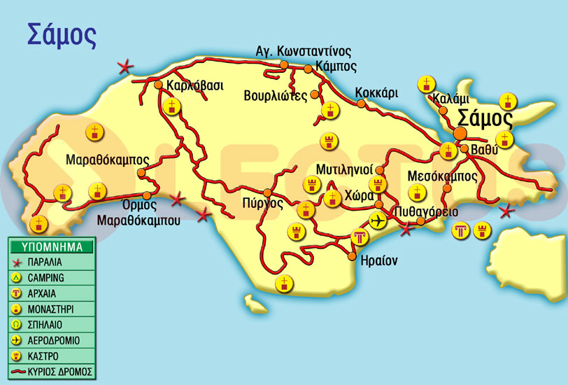 Χάρτης - Σάμος