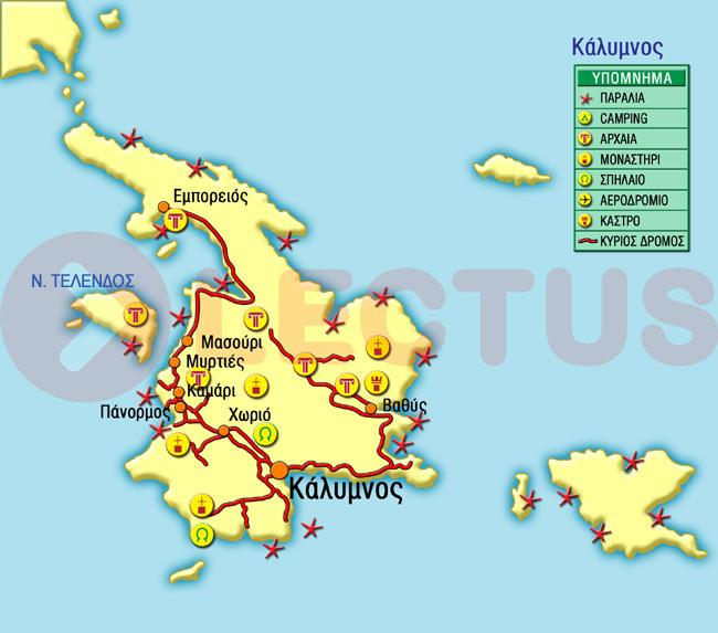 Χάρτης - Τέλενδος